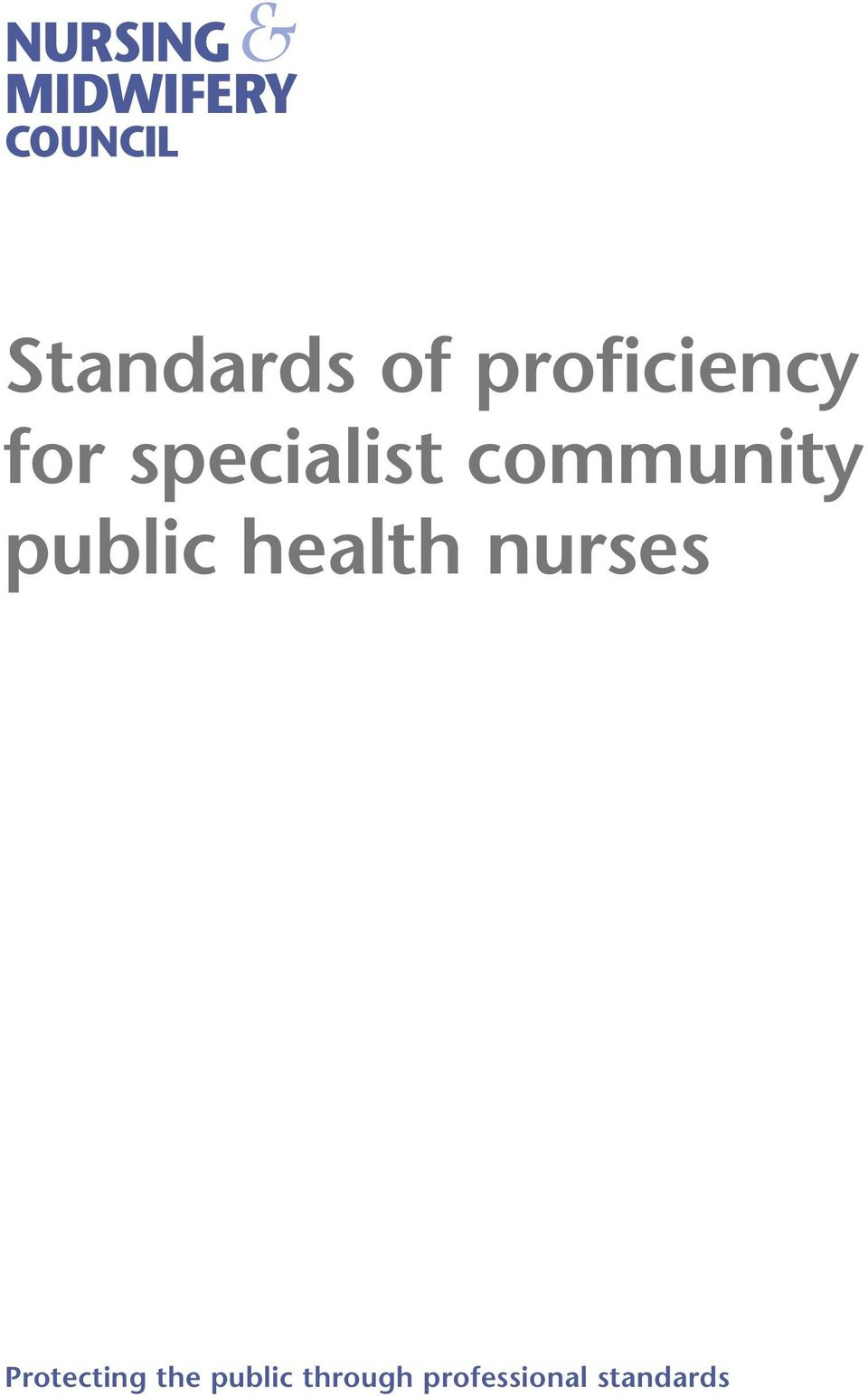 community public health nurses