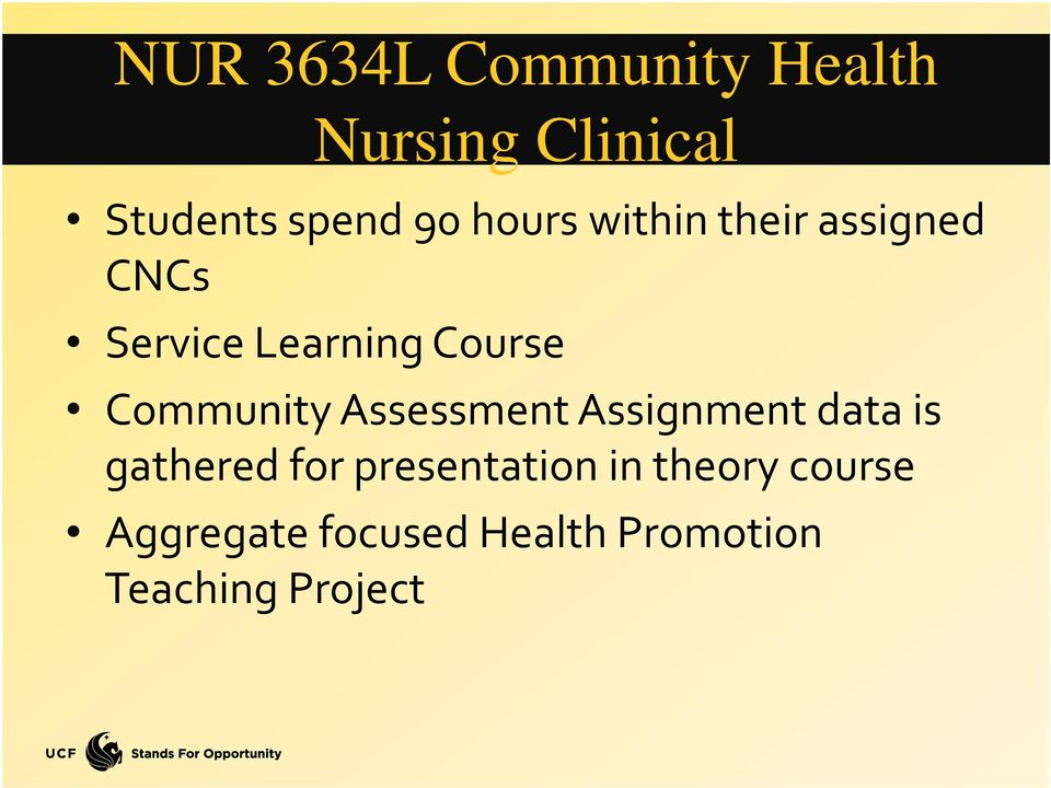 Community Assessment Assignment data is gathered for