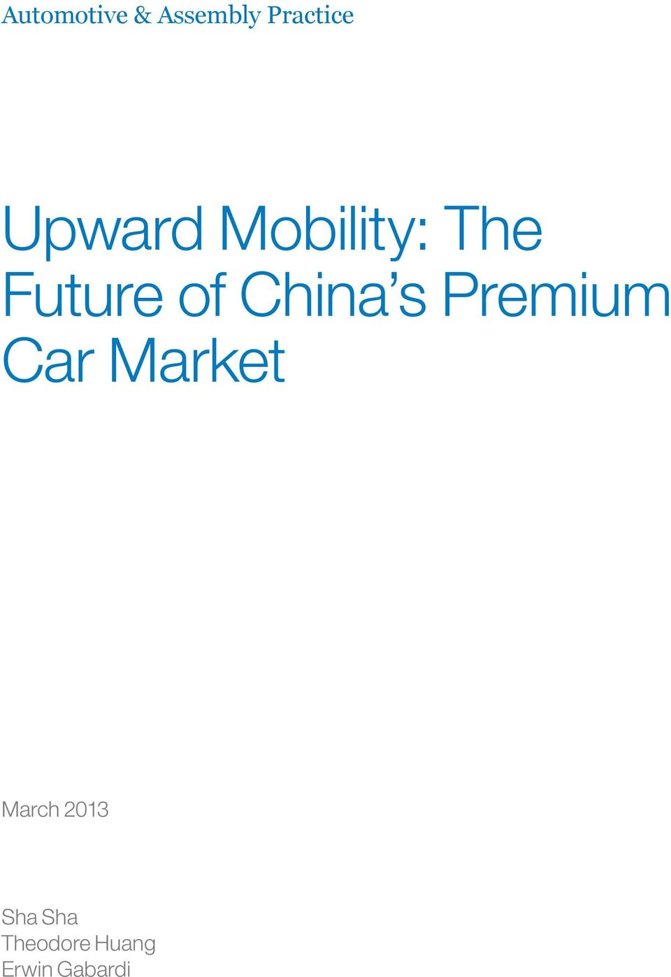 China s Premium Car Market March