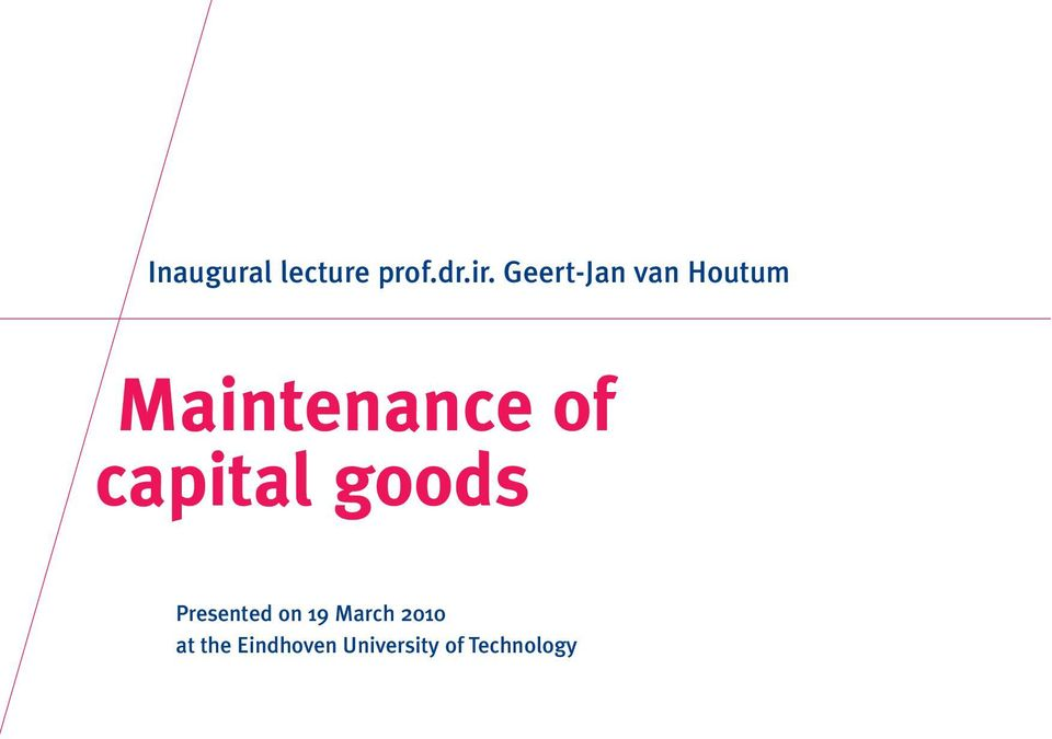 capital goods Presented on 19 March