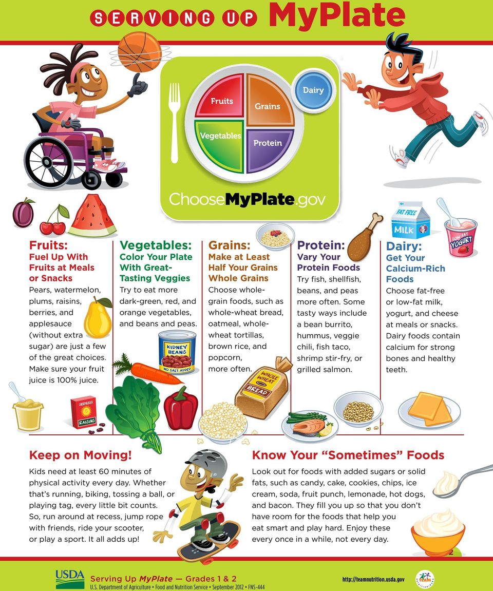 English Language Arts, and Health. This yummy curriculum introduces the importance of eating from all five food groups using the new MyPlate icon and a variety of hands on activities.