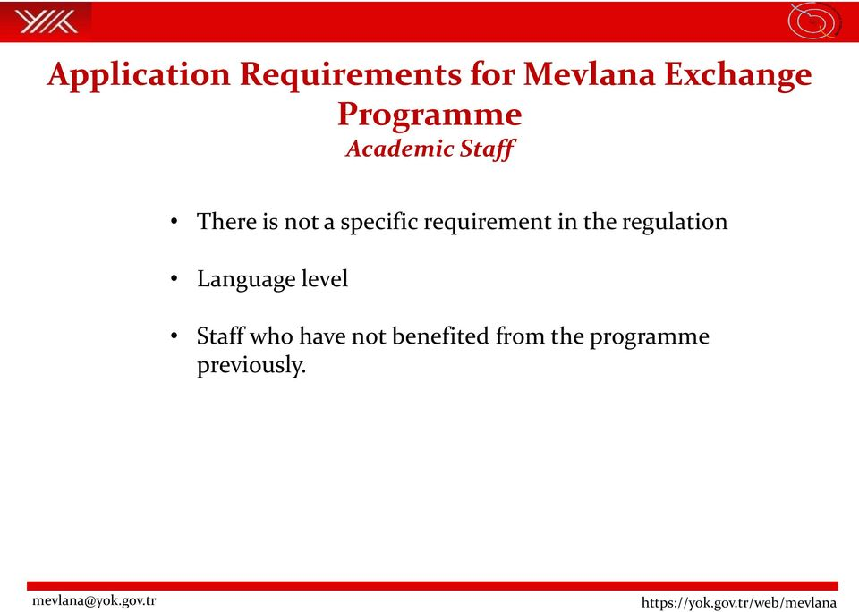 requirement in the regulation Language level