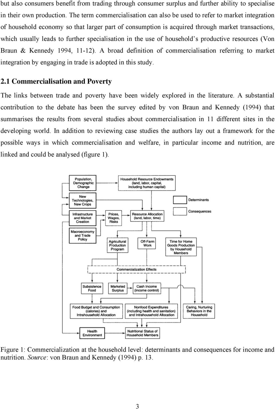further specialisation in the use of household s productive resources (Von Braun & Kennedy 1994, 11-12).
