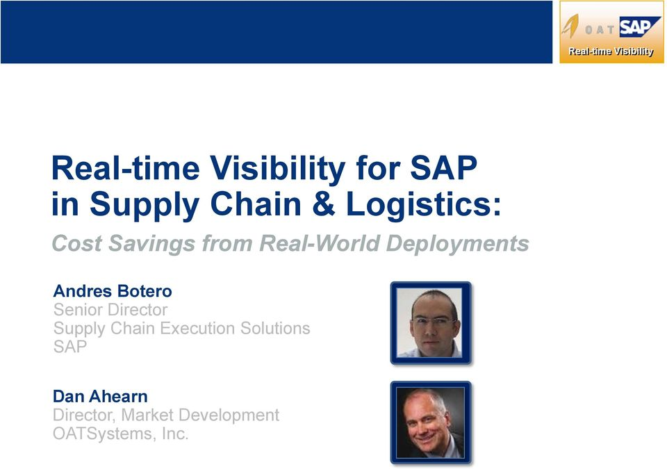 Director Supply Chain Execution Solutions SAP Dan