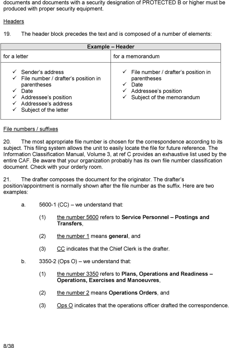 Staff Work Guide. Canadian Armed Forces Junior Officer Development ...