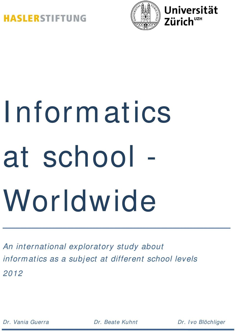 informatics as a subject at different school