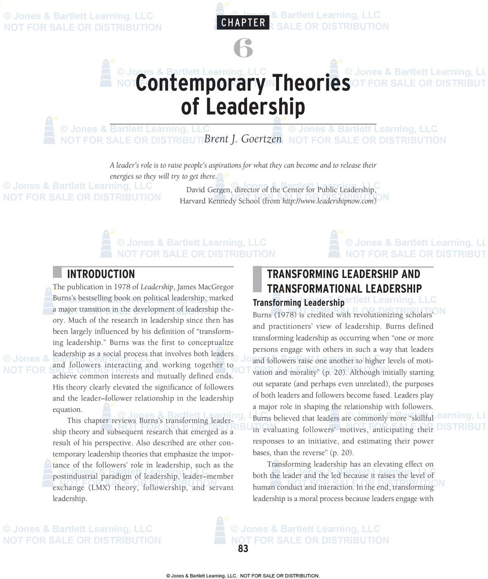Contemporary theories of leadership pdf com or distribution o introduction the publication in 1978 of leadership james macgregor burns fandeluxe Image collections