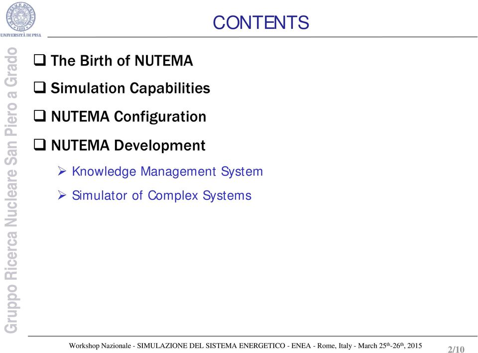 Configuration NUTEMA Development Knowledge