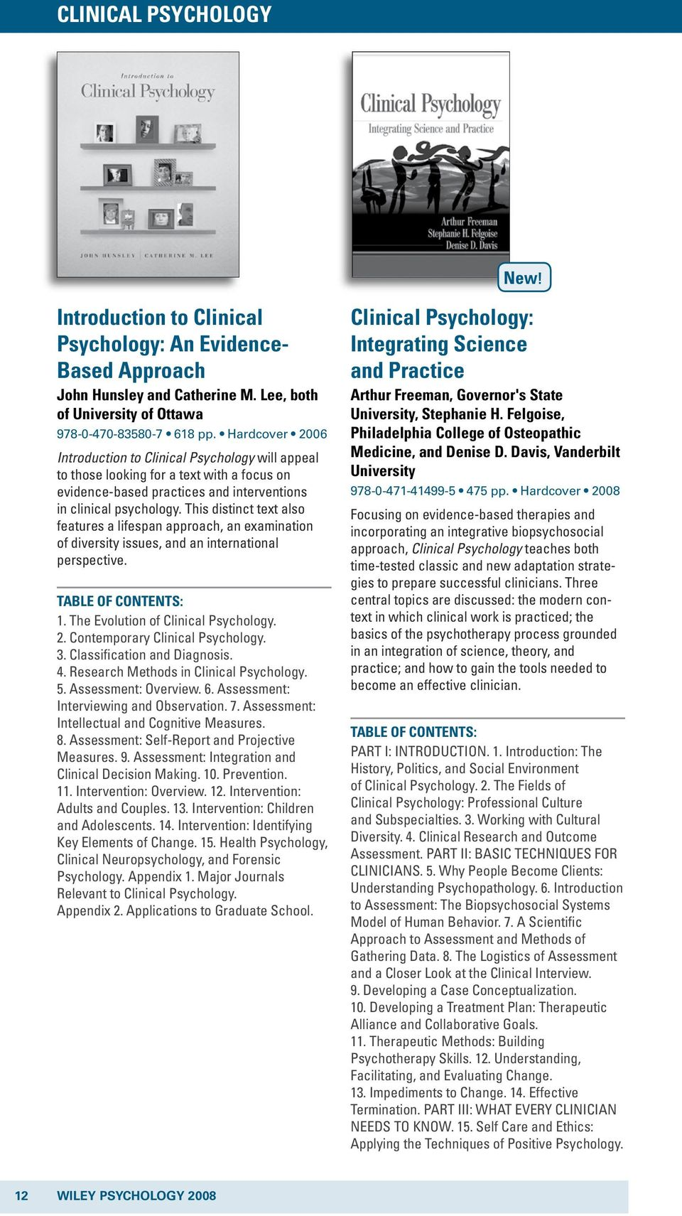 evolution of clinical psychology