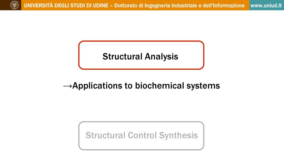 biochemical systems