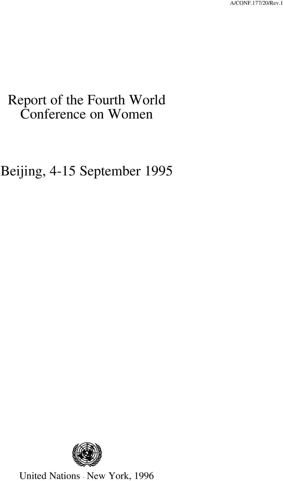 Conference on Women Beijing,