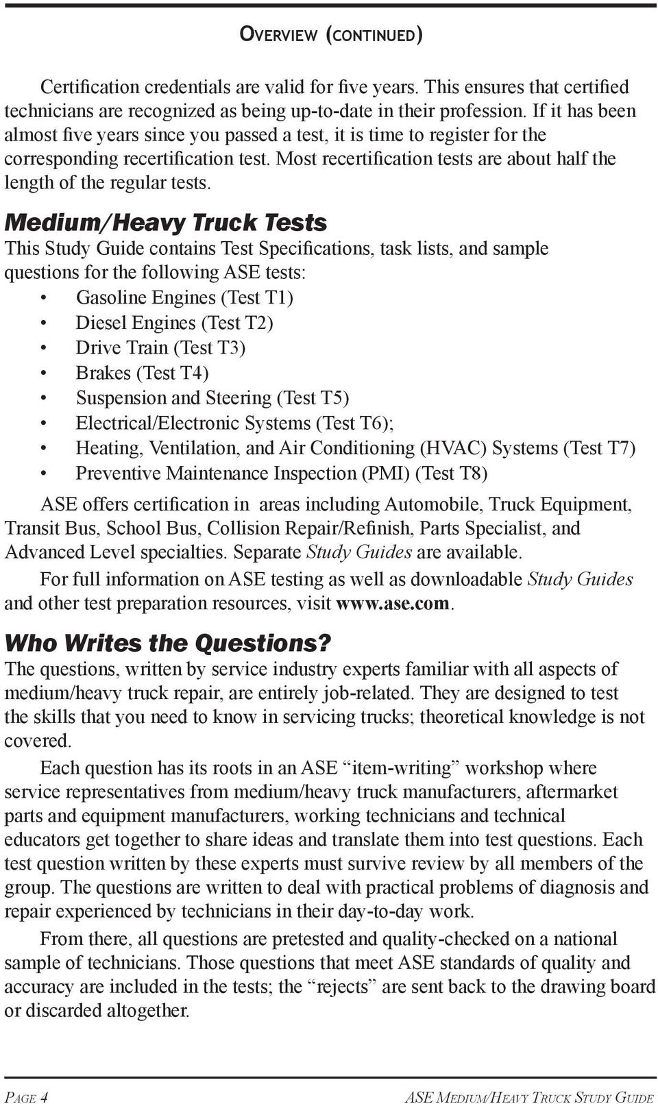 The Official Ase Study Guide Ase Mediumheavy Truck Tests Pdf