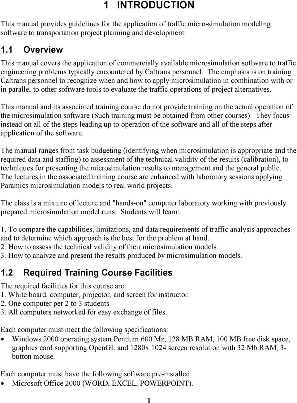 California Department of Transportation  Guidelines for