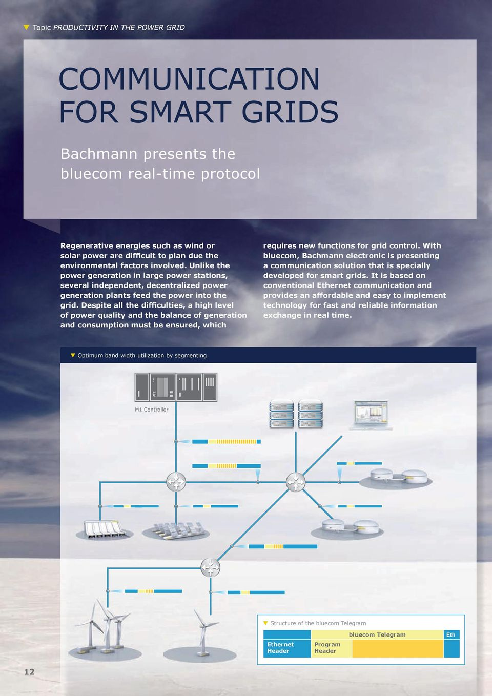 Despite all the difficulties, a high level of power quality and the balance of generation and consumption must be ensured, which requires new functions for grid control.