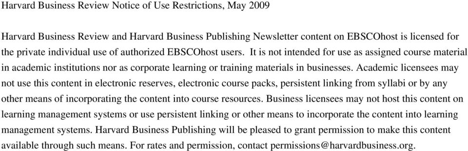 Academic licensees may not use this content in electronic reserves, electronic course packs, persistent linking from syllabi or by any other means of incorporating the content into course resources.