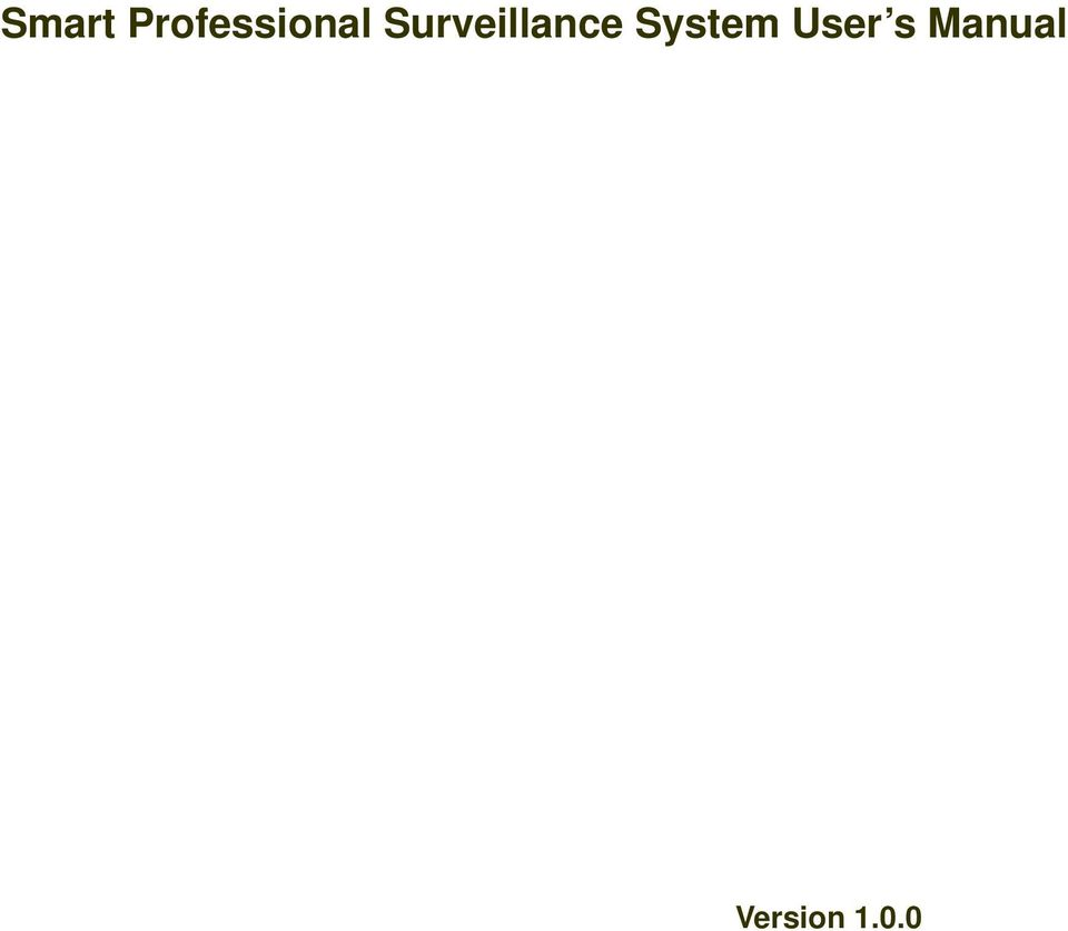 Smart Professional Surveillance System User S Manual Pdf