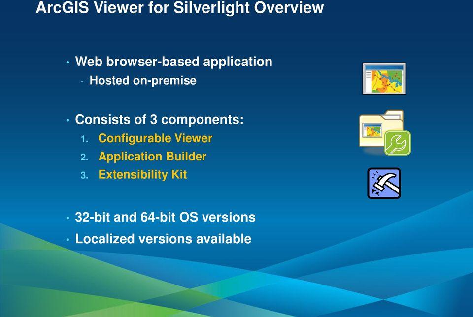 Configurable Viewer 2. Application Builder 3.