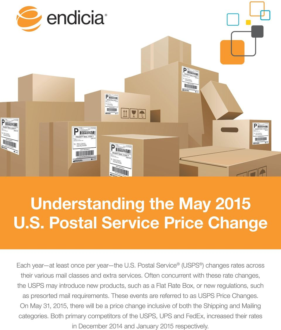 requirements. These events are referred to as USPS Price Changes.