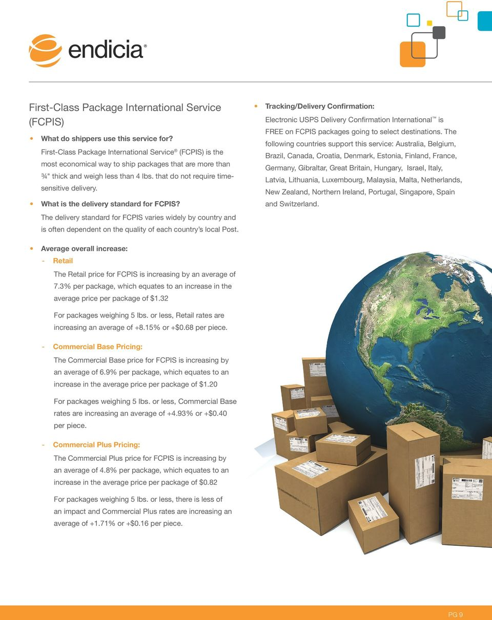 PMI includes delivery status with the USPS Track & Confirm tool on all package types except the Flat Rate Envelopes and Small Flat Rate Boxes, which instead include free electronic Delivery