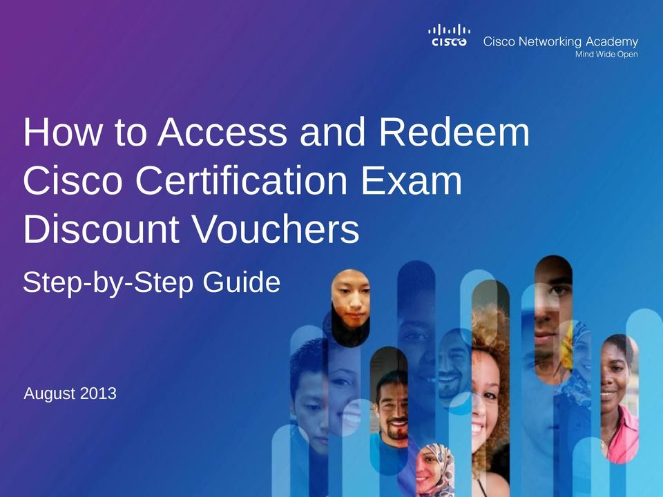 How To Access And Redeem Cisco Certification Exam Discount Vouchers Pdf