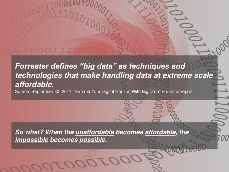 Source: September 30, 2011, Expand Your Digital Horizon With Big Data