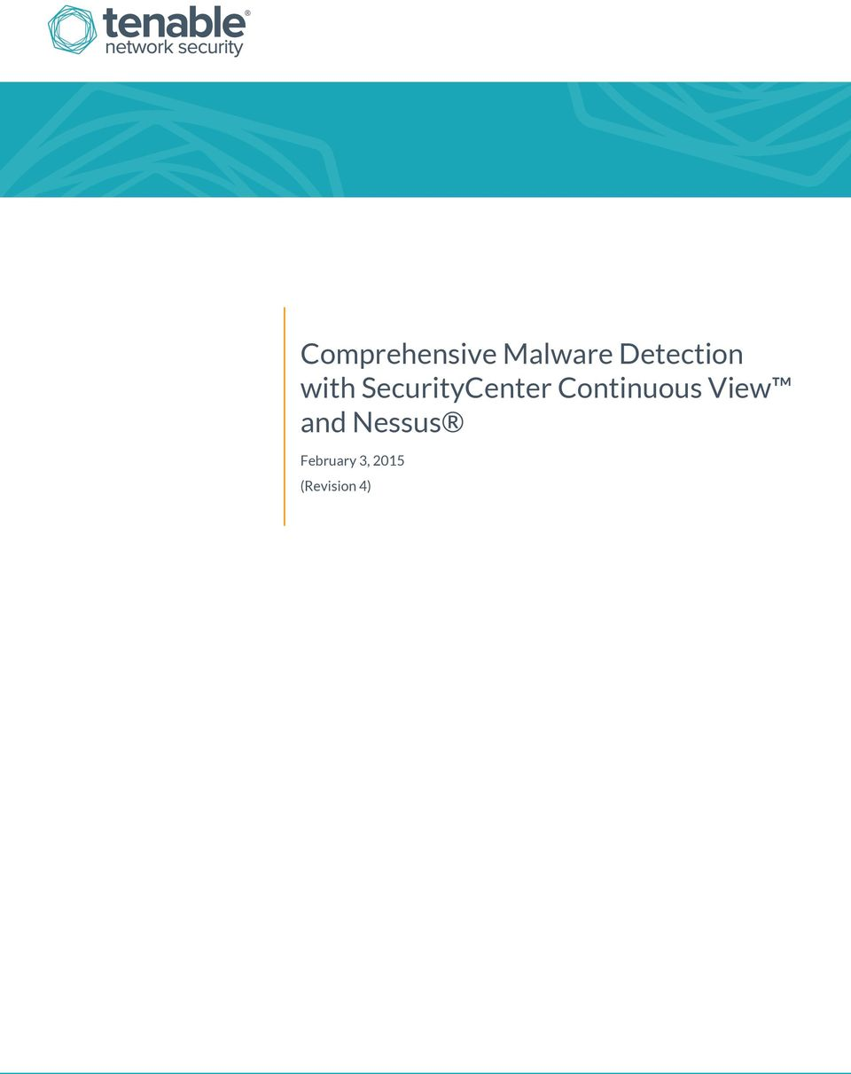SecurityCenter Continuous