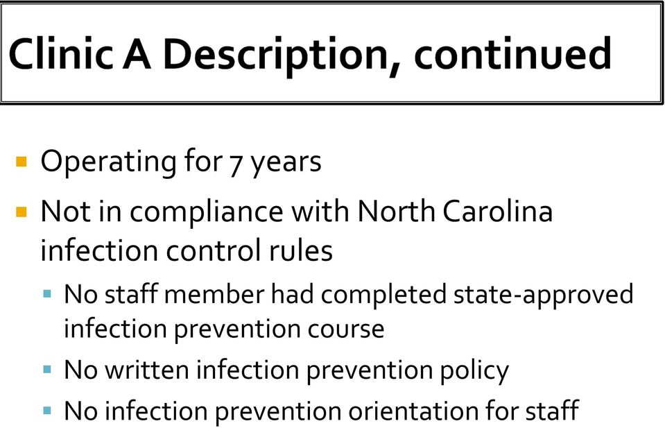 state-approved infection prevention course No written