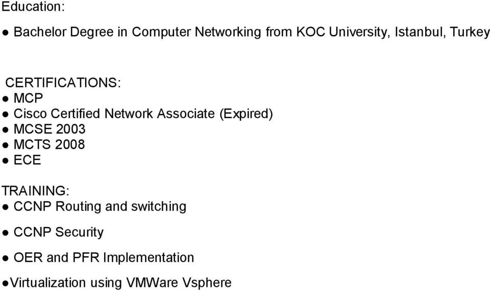 (Expired) MCSE 2003 MCTS 2008 ECE TRAINING: CCNP Routing and switching