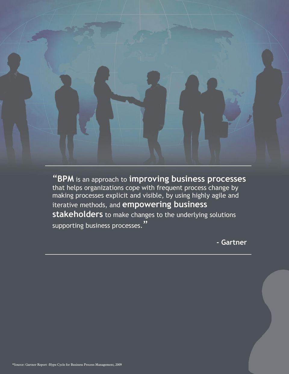 methods, and empowering business stakeholders to make changes to the underlying solutions