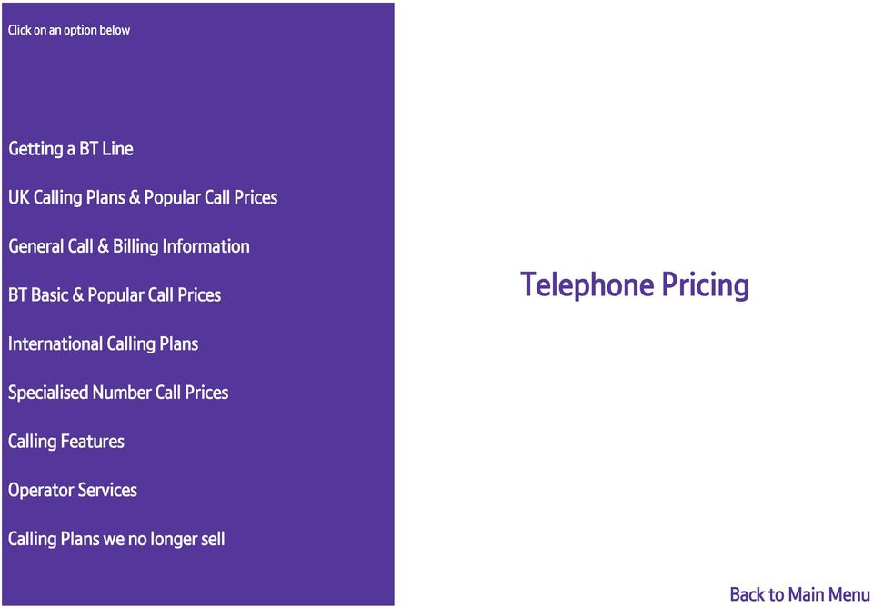 Telephone Pricing International Calling Plans Specialised Number Call Prices