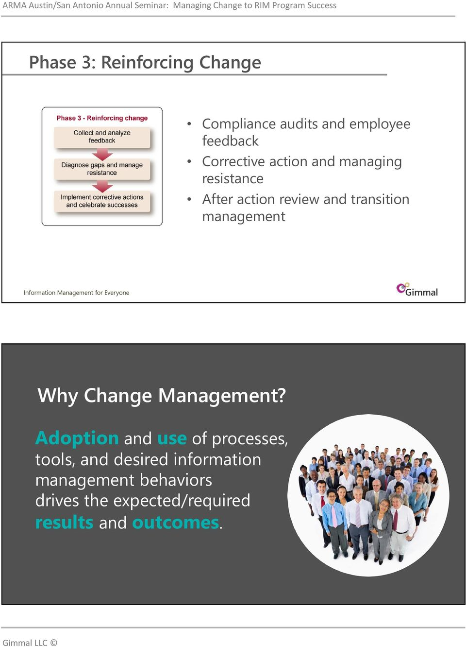 management Why Change Management?