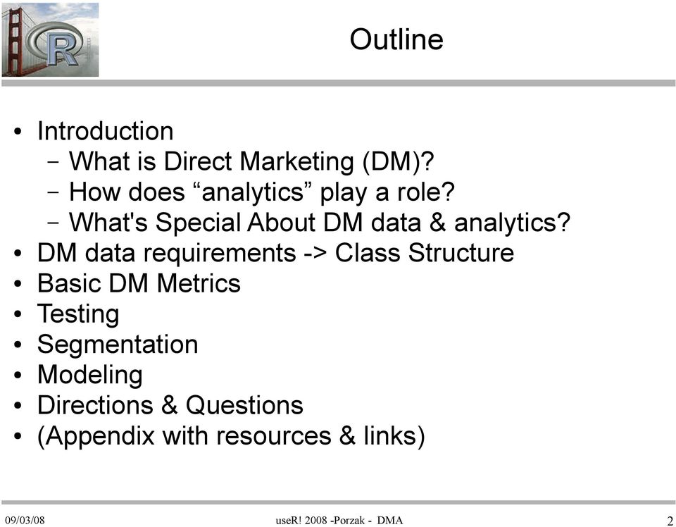 DM data requirements -> Class Structure Basic DM Metrics Testing