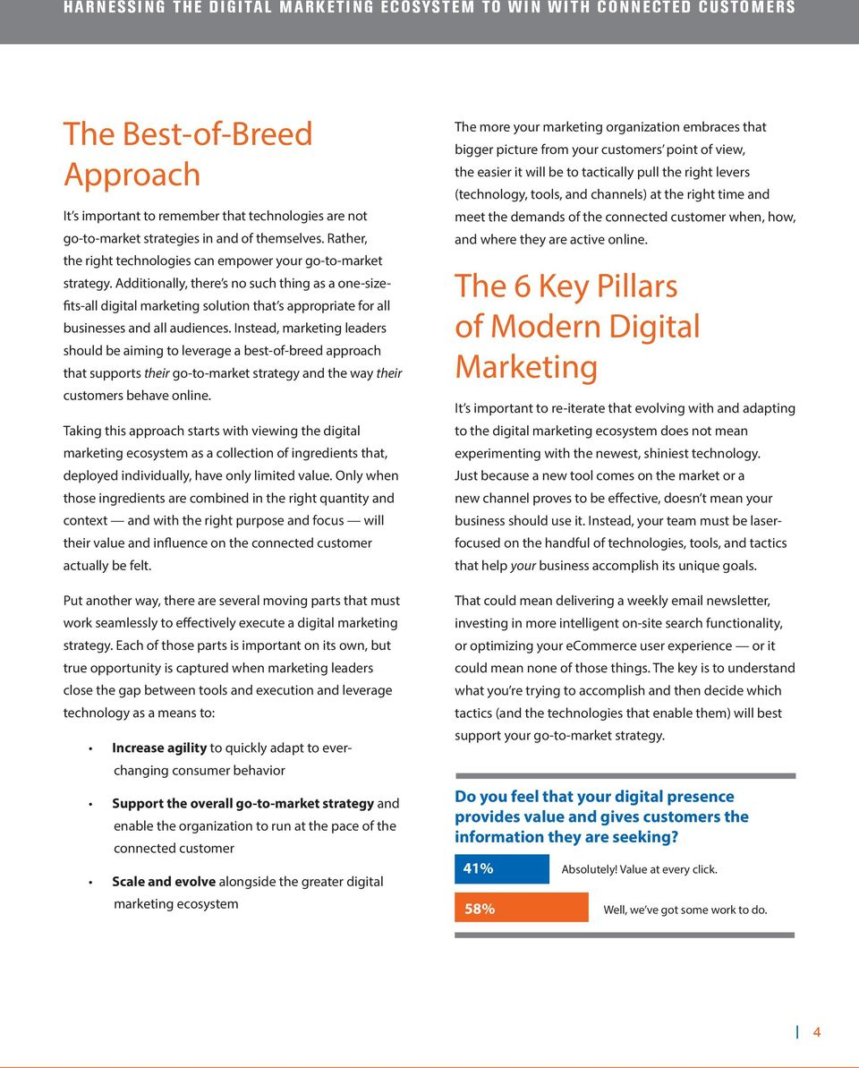 Instead, marketing leaders should be aiming to leverage a best-of-breed approach that supports their go-to-market strategy and the way their customers behave online.