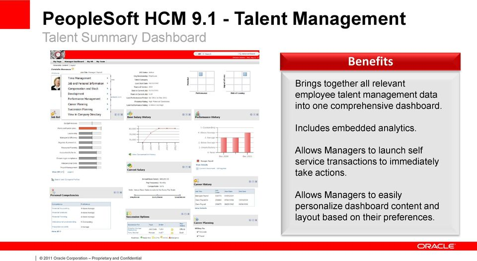 employee talent management data into one comprehensive dashboard.