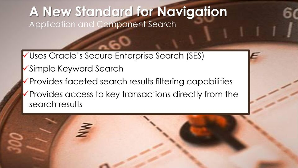 Search Provides faceted search results filtering capabilities