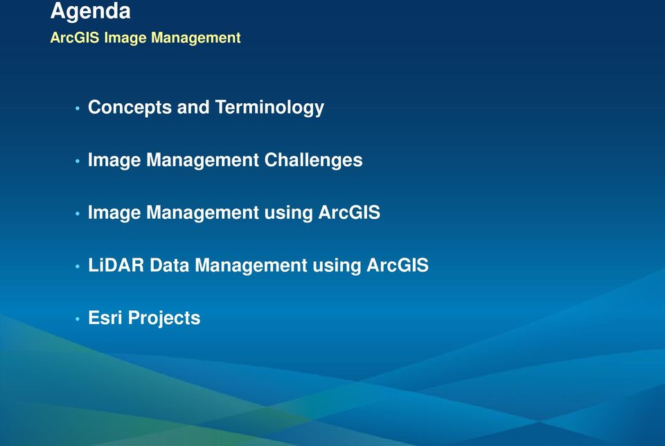 Challenges Image Management using ArcGIS