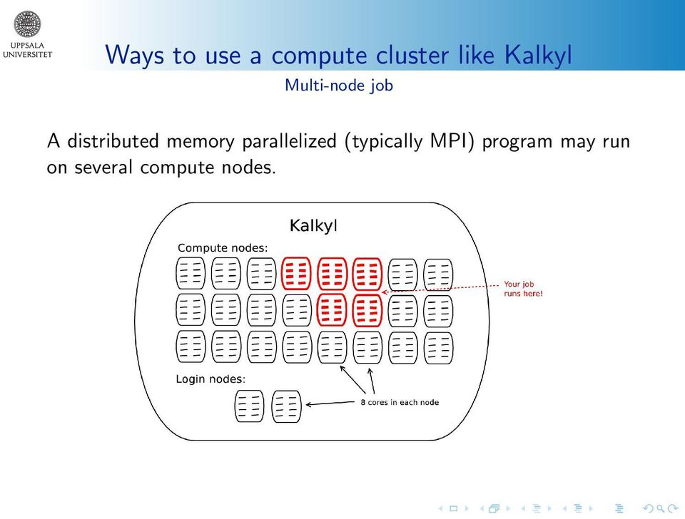 memory parallelized (typically MPI)
