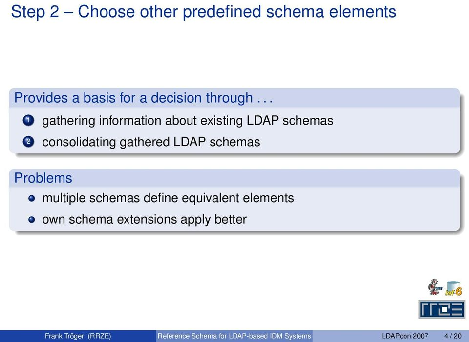 schemas Problems multiple schemas define equivalent elements own schema extensions