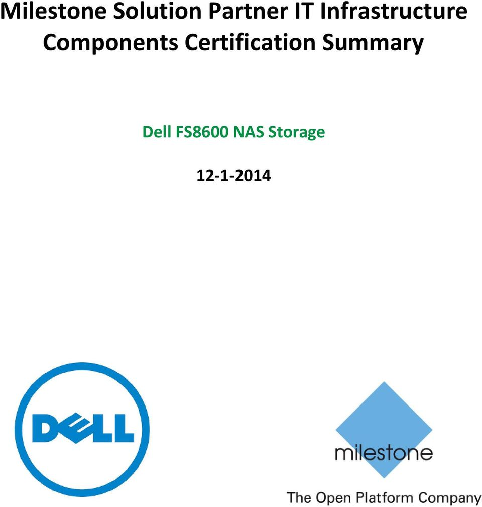 Components Certification