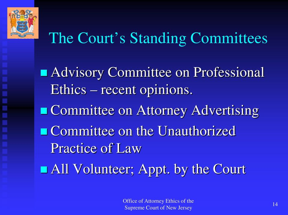 Committee on Attorney Advertising Committee on the