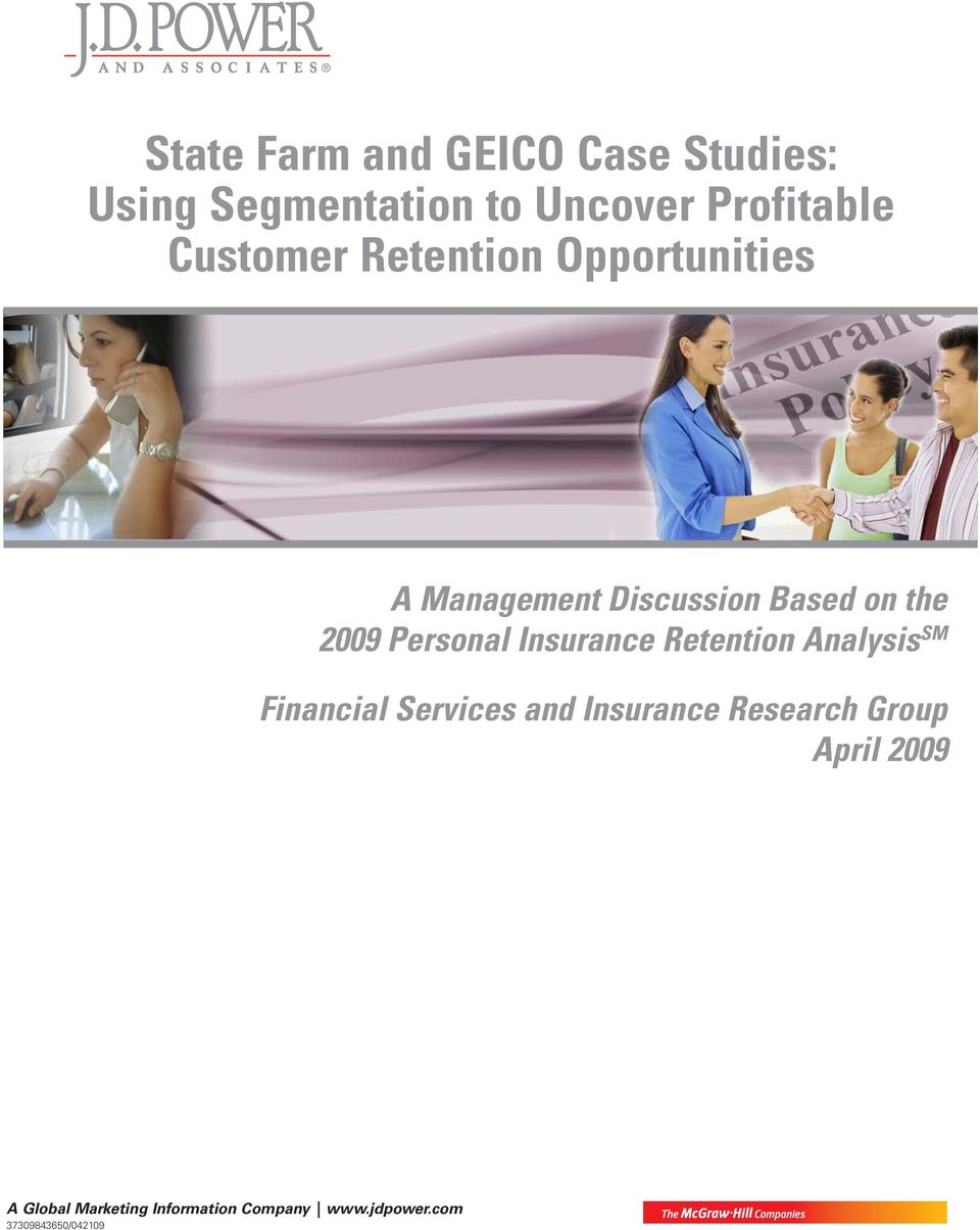 Insurance Retention Analysis SM Financial Services and Insurance Research