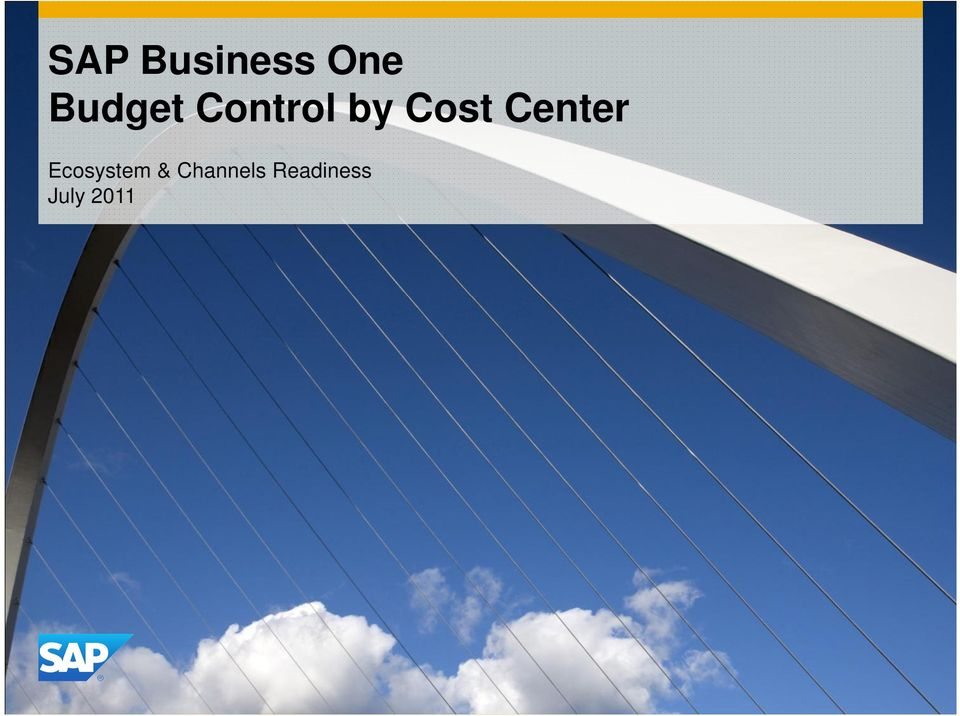 Cost Center Ecosystem