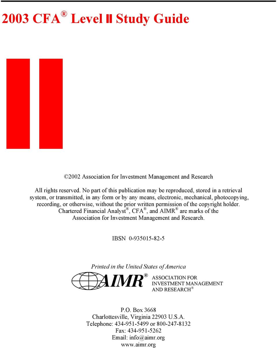 investment management study material pdf