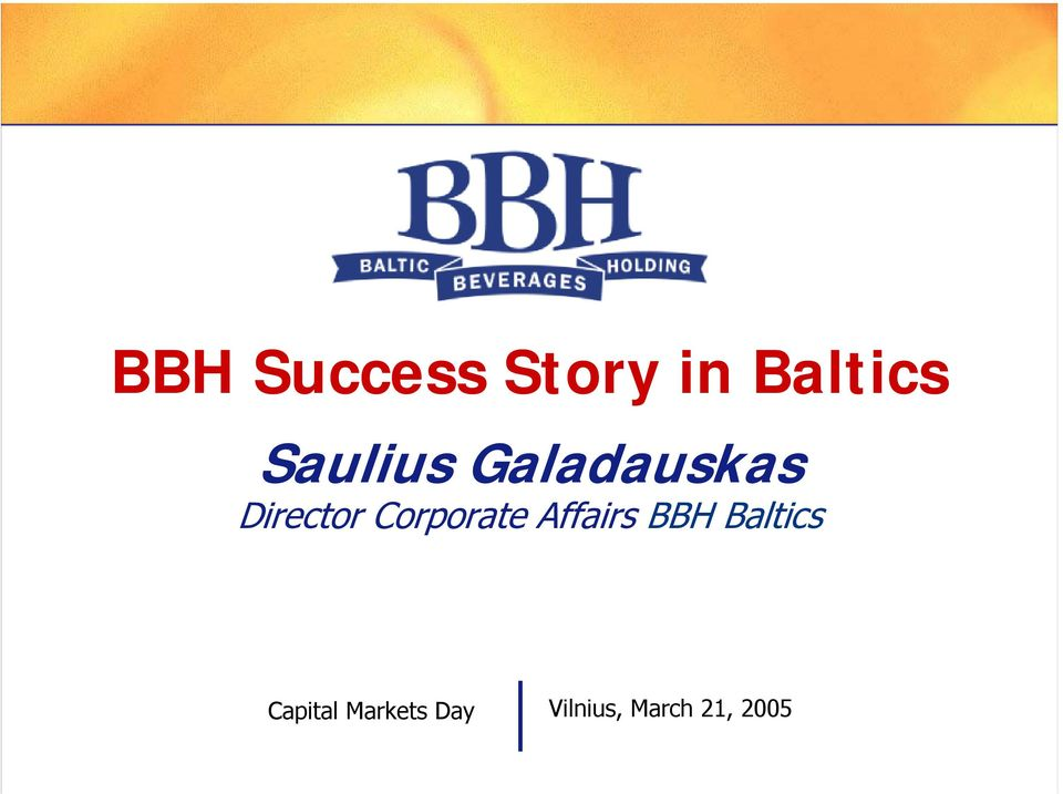 Corporate Affairs BBH Baltics
