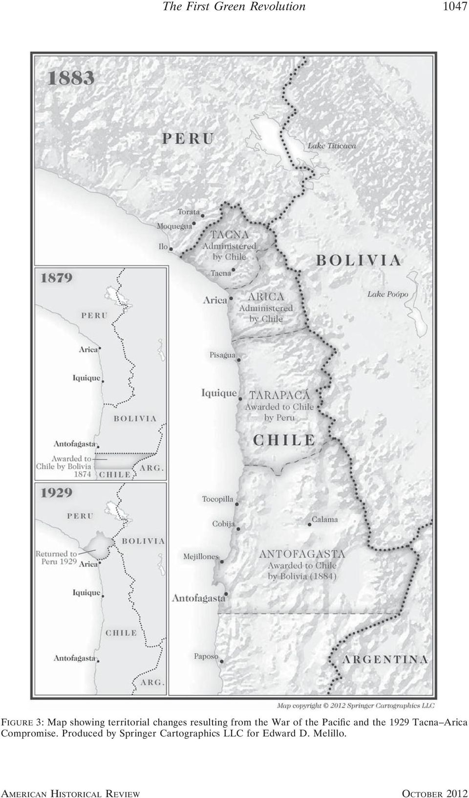 of the Pacific and the 1929 Tacna Arica Compromise.