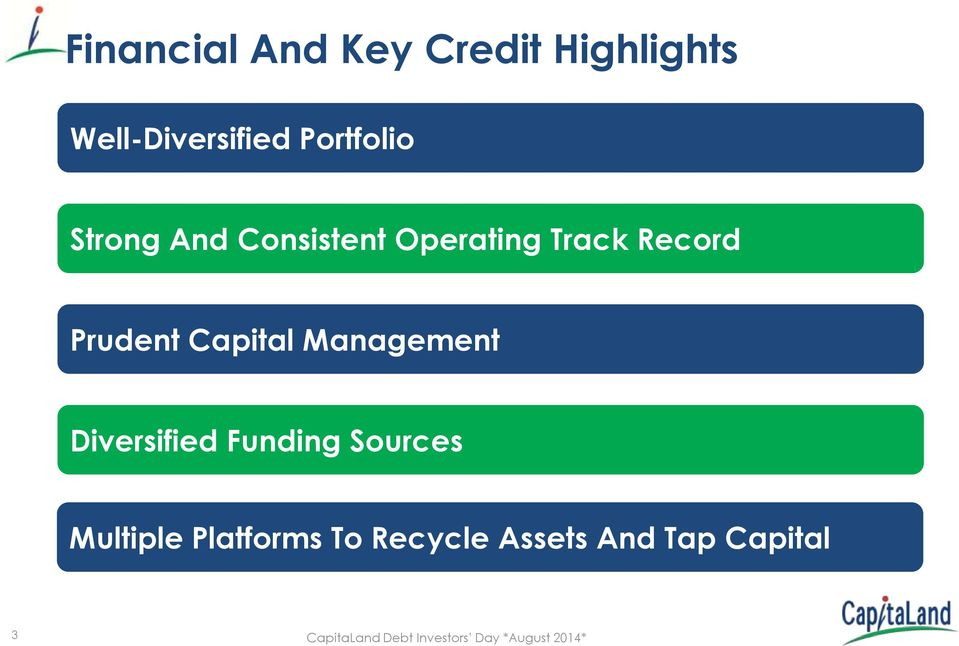Prudent Capital Management Diversified Funding Sources