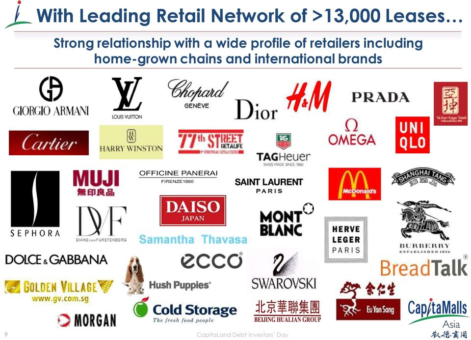 retailers including home-grown chains and