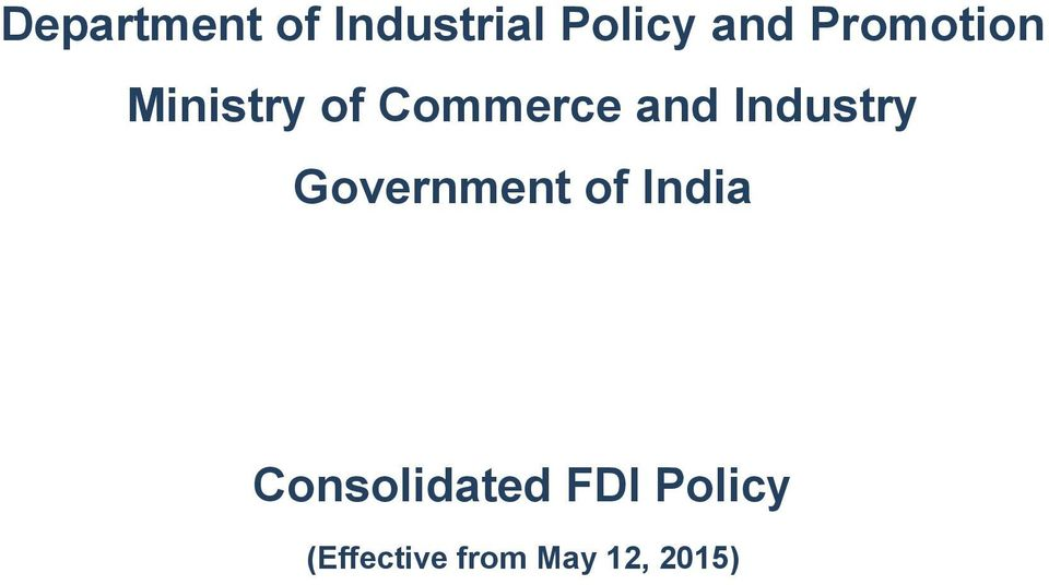 Industry Government of India