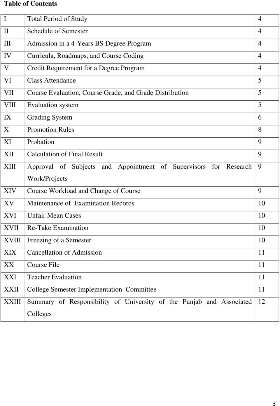 Result 9 XIII Approval of Subjects and Appointment of Supervisors for Research 9 Work/Projects XIV Course Workload and Change of Course 9 XV Maintenance of Examination Records 10 XVI Unfair Mean