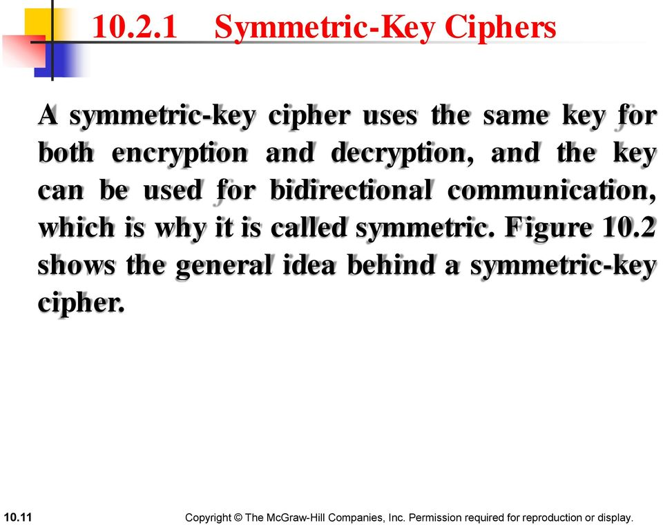 bidirectional communication, which is why it is called symmetric.